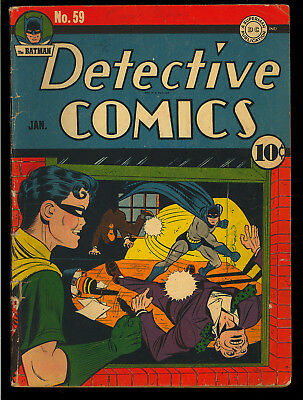 Detective Comics #59 Nice 2nd App. Penguin Original Owner Batman DC 1942 VG