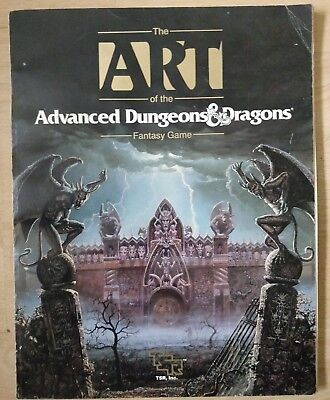 The Art of the Advanced Dungeons & Dragons First 1989 TSR Fantasy Game