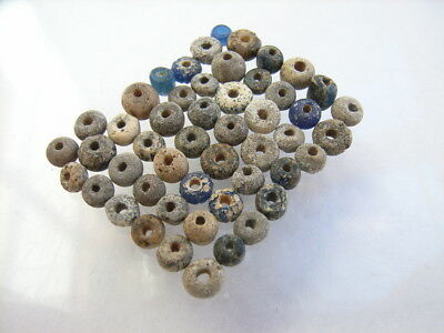 50 Ancient Roman Glass, Clay Beads Romans VERY RARE!  TOP !!