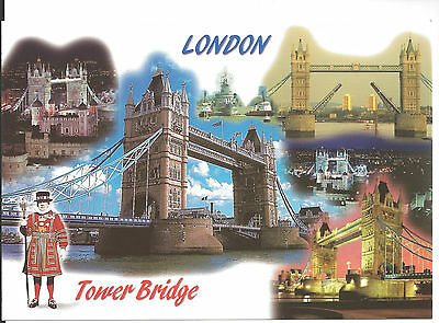 Postcard: Tower Bridge, London, England - Unposted