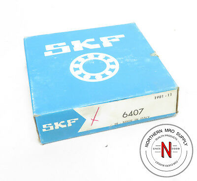 SKF 6407 DEEP GROOVE BALL BEARING, 35mm x 100mm x 25mm, FIT C0, OPEN SEAL