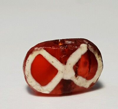 Ancient Rare Pyu Etched Carnelian Agate Bead