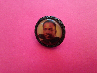 "1969 Martin Luther King ""i Have A Dream""original Pin Back Photo Badge"