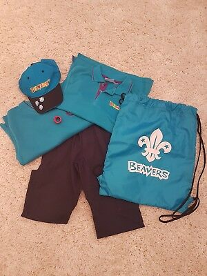 """Full Beavers Outfit Including Bag and Cap Aged 5-6 24/26"""""""