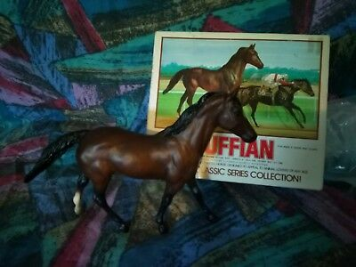 Breyer Vintage Classic Racehorse RUFFIAN #606 with picture box