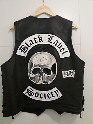 Black label society Leather Waistcoat