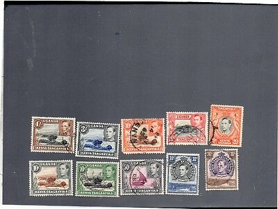 STAMPS - UGANDA - Used King George VI