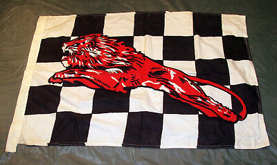 Vintage Gilmore Oil Red Lion Checkered Race Flag Gas Gasoline