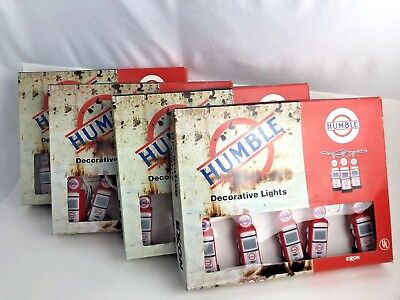 Lot 4 Humble Oil Gas Pump Christmas Camping Lights Exxon GREAT FIND!!