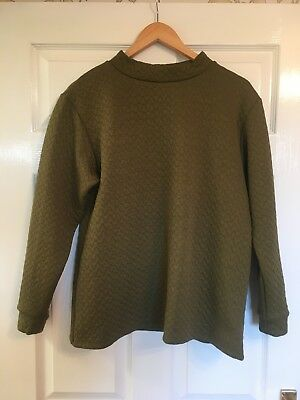 ASOS Maternity Green Quilted Sweatshirt Size 10