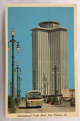 Louisiana LA New Orleans International Trade Mart Postcard Old Vintage Standard