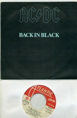 """7 - AC/DC  - Back in Black / What do you do for money honey - ATLANTIC Portugal"
