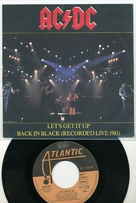 """7 - AC/DC - Let`s get it up / Back in Black (Live 1981)- Atlantic - Heavy Metal"