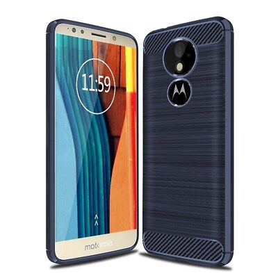 For Motorola Moto G6 Play Carbon Fibre TPU Rugged Gel Case Silicone Cover