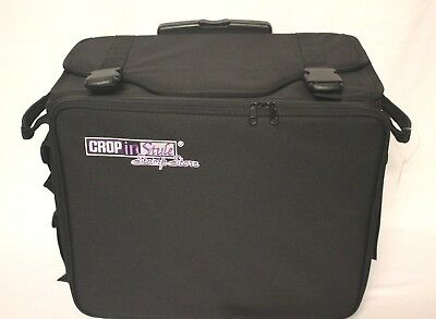 NEW! CROP IN STYLE STAMP STORE Rolling Case Bag with Purple Pull-Out Drawers NWT