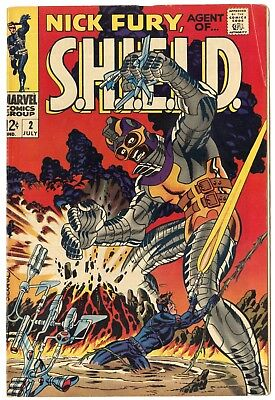 Nick Fury, Agent of SHIELD #2 FN 6.0 ow/white pages  Marvel  1968  No Reserve