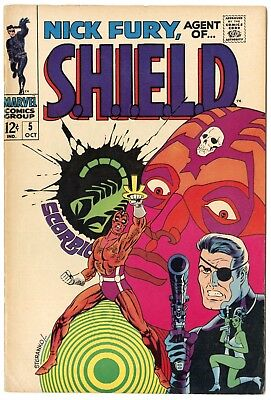 Nick Fury, Agent of SHIELD #5 VF 8.0 ow/white pages  Marvel  1968  No Reserve