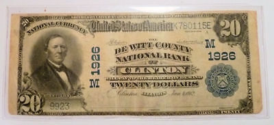 National Currency Banknote CLINTON Illinois De Witt County NB Series 1902 M1926