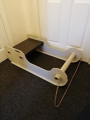 Large Grey Solid Snow Sledge / Sleigh /tobogan/ Outside Winter Display Etc..