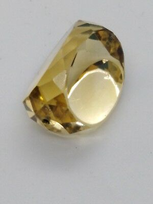 Loose Faceted Citrine Stone for a Swivel Fob