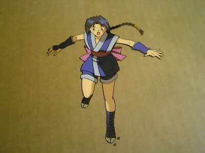 Rurouni Kenshin Anime Cel Japan Production Art MISAO ninja girl