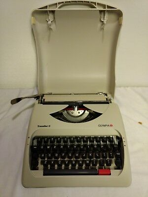 Olympia Traveller C Manual Portable Compact Typewriter Hard Case Cover Travel