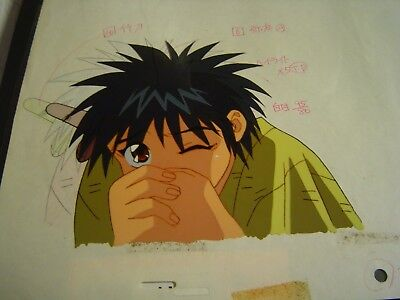 Rurouni Kenshin Anime Cel Japan Production Art YAHIKO oversized pan samurai
