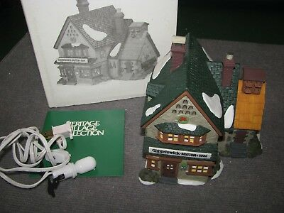 """Vintage Dept 56 Dickens Village """"Giggelswick Mutton and Ham"""" #5822-0 Christmas"""