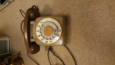Classic  GPO  Dial Telephone (Retro Vintage 70s 80s Dial Phone)two tone