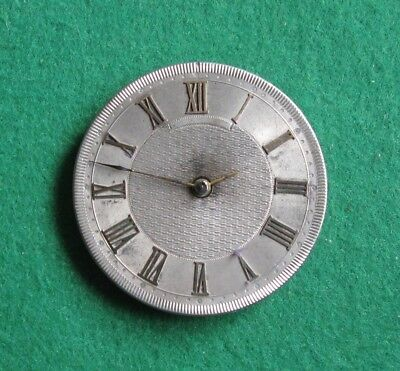 Antique / Vintage MATHEY Silver & Gold Faced Pocket Watch Movement Dia. 33mm