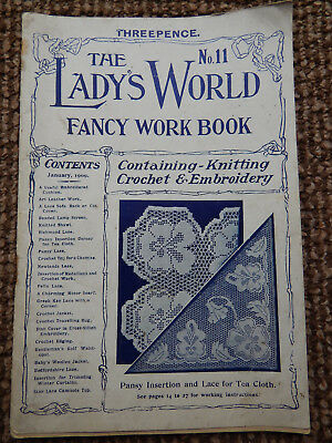 THE LADY'S WORLD CROCHET FANCY WORK BOOK No 11 JANUARY 1909