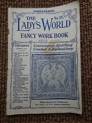THE LADY'S WORLD CROCHET FANCY WORK BOOK No 15 JANUARY 1910