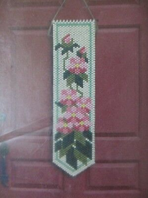 New Beaded Banner Craft Kit Rhododendron  #5330 6.25 X 23.25  By The Beadery