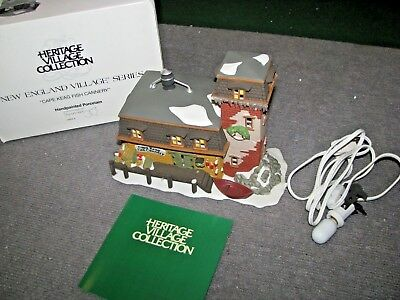 """Vintage Dept 56 Dickens Village """"Cape Keag Fish Cannery"""" #5652-9  Christmas"""