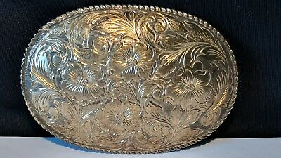 San Carlos  22k-Gold-Over-Sterling-Solid-Silver -Crumrine-Jewelers-Belt-Buckle