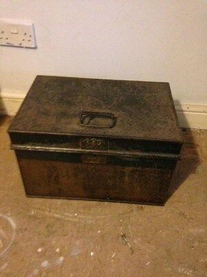 Beautiful Old Milners Original Antique, Vintage Chest Safe.