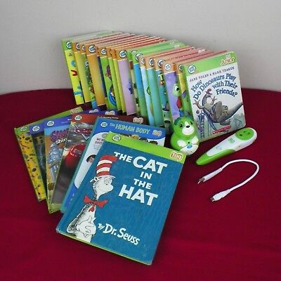 Leap Frog Tag Junior  Reading System 18 Book Tag Reader Pen Human Body