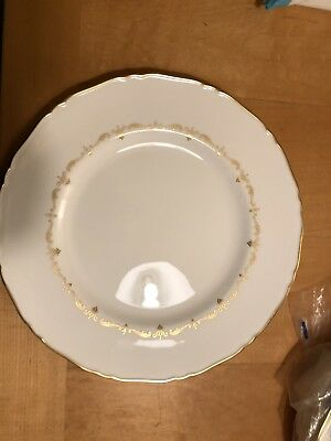 "6 ROYAL WORCESTER ""GOLD CHANTILLY"" 10 3/4 inch DINNER PLATES"