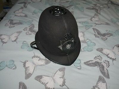 """WW2 police helmet badge,  """"Portsmouth city police"""" ARP Home front"""