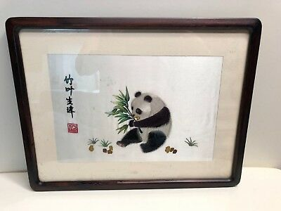 panda silk embroidery from Thailand
