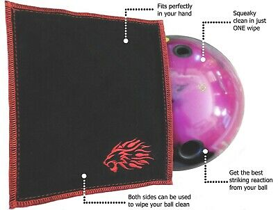 Bowling Towel Shammy Cleaning Leather Pad - Double Sided Bowling Ball Shammy