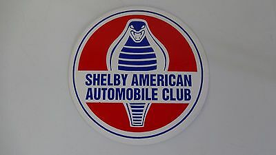 "SAAC Shelby American Automobile Club Sticker Decal 2"" Carroll Shelby Cobra"