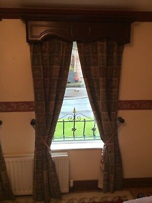 Two pair of vintage Tapestry lined curtains country cottage
