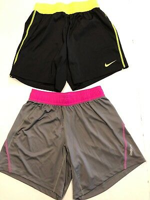 Womens Nike Dri Fit & Reebok Play Dry Running Shorts Lot Size XS Excellent Cond