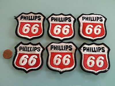 6 Vintage PHILLIPS 66 oil / gas station PATCH LOT unused RARE sew on