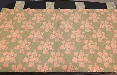 Baby Martex Cocalo Vintage Rose TAB TOP VALANCE pink green peach gingham NEW