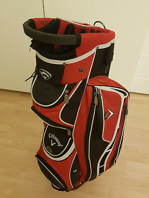 Callaway Euro G2 Trolley Cart Bag - ROT/WEISS