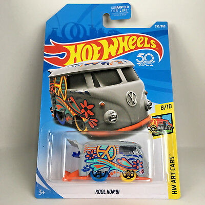 Hot Wheels Kool Kombi 2018 50th Anniversary HW Art Cars Diecast Volkswagen Bus