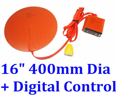 "16"" 400mm Diameter Round 110V 500W w/ Digital controller CE silicone heater pad"