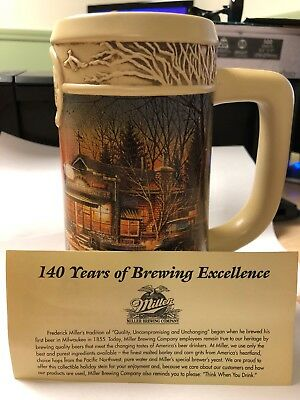 "Miller Beer Stein Ducks Unlimited Terry Redlin  ""Welcome To Paradise"""